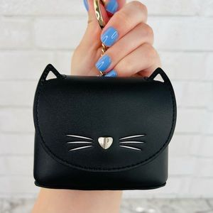 Kate Spade Meow Cat Coin Case Key Fob Keychain Bag Charm